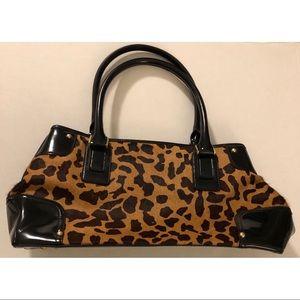 Talbots NWOT leather calf hair cheetah print purse